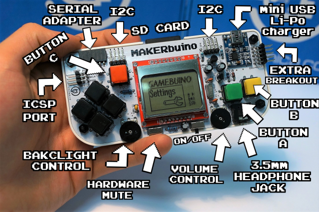 MAKERbuino diagram