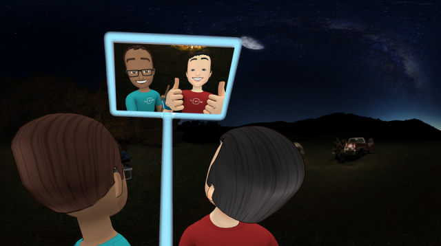 facebook spaces selfie campfire still