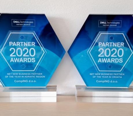 Dell Technologies dodijelio Compingu dvije nagrade za ostvarenja u protekloj godini