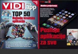 Top 50 hrvatskih aplikacija po izboru časopisa VIDI